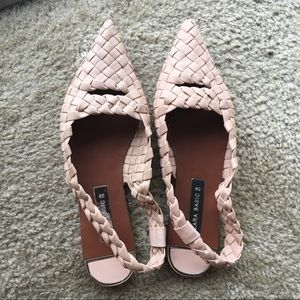 Pink flat shoes